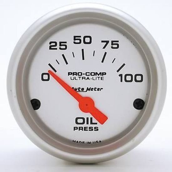 Autometer Au4327 Ultralite 2 16 U0026quot  Electrical Oil Pressure