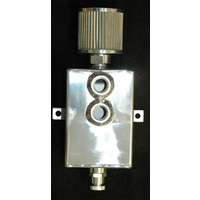 ALLOY RECTANGULAR CATCH CAN WITH BREATHER & DRAIN COCK 2 LITRE 6579