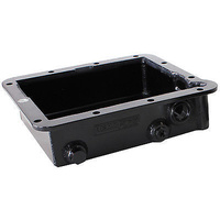 "AEROFLOW 3"" DEEP FABRICATED ALLOY TRANSMISSION PAN FORD C-4 BLACK AF72-3000BLK"