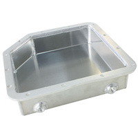 "AEROFLOW 3"" DEEP FABRICATED ALLOY TRANSMISSION PAN TURBO 350 NATURAL AF72-3003"