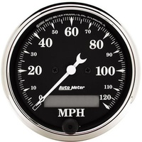 "AUTOMETER OLD TYME BLACK 3-1/8"" ELEC IN-DASH SPEEDOMETER 0-120 MPH AU1787"
