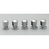"CENTERLINE CLOSED END CHROME WHEEL NUTS 1/2"" SHANK 7/16""-20 RH 5 PACK CEL-5102"