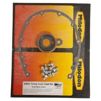 Milodon MI65503 Chev Small Block Composite Rubber Timing Cover Gasket Set