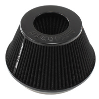 "AEROFLOW TAPERED 6"" BLACK CLAMP-ON POD FILTER AF2711-1009, 7.5""B x 5.125""T x 4""H"