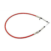 B&M 4FT PERFORMANCE SHIFTER CABLE THREAD & EYELET ENDS RED BM 80832
