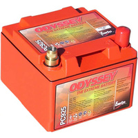 "Odyssey ODPC925MJT Dry Cell 12 V Deep Cycle Battery 330 Cca 6.6""L X 7""W X 5""H"