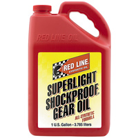 RED LINE SUPERLIGHT SHOCKPROOF GEAR OIL RED58505, 1 GAL (3.785L)