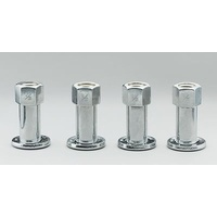 "WELD OPEN END WHEEL NUTS WE601-1426 CHROME 1/2"" x 20 RH 4 PACK"