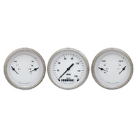 "Classic Instruments (WH04SLF) White Hot 3 3/8"" Speedo & 2 Duals,"