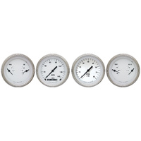 "Classic Instruments (WH05SLF) White Hot 3 3/8"" Speedo & Tach & 2 Duals"