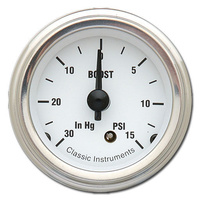 "Classic Instruments (WH08SLF) White Hot 2 1/8"" Boost"