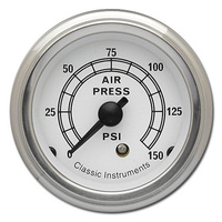 "Classic Instruments (WH16SLF) White Hot 2 1/8"" Air Pressure"
