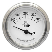 "Classic Instruments (WH28SLF) White Hot 2 1/8"" Oil Temperature"