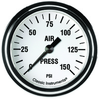 "Classic Instruments (WH318SLF) White Hot 2 5/8"" Air Pressure Gauge"