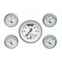 "Classic Instruments (WH35SLF) White Hot 3 3/8"" Ultimate & 2 1/8"" Fuel, Oil, Temp"