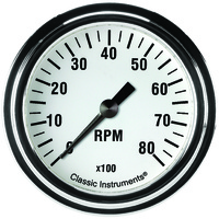 "Classic Instruments (WH383SLF) White Hot 2 5/8"" Tachometer"