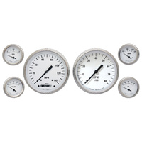 "Classic Instruments (WH51SLF) White Hot 4 5/8"" Speedo & Tach, 2 1/8"" Fuel, Oil,"