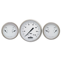 "Classic Instruments (WH64SLF) White Hot 4 5/8"" Speedo & 2 Duals"