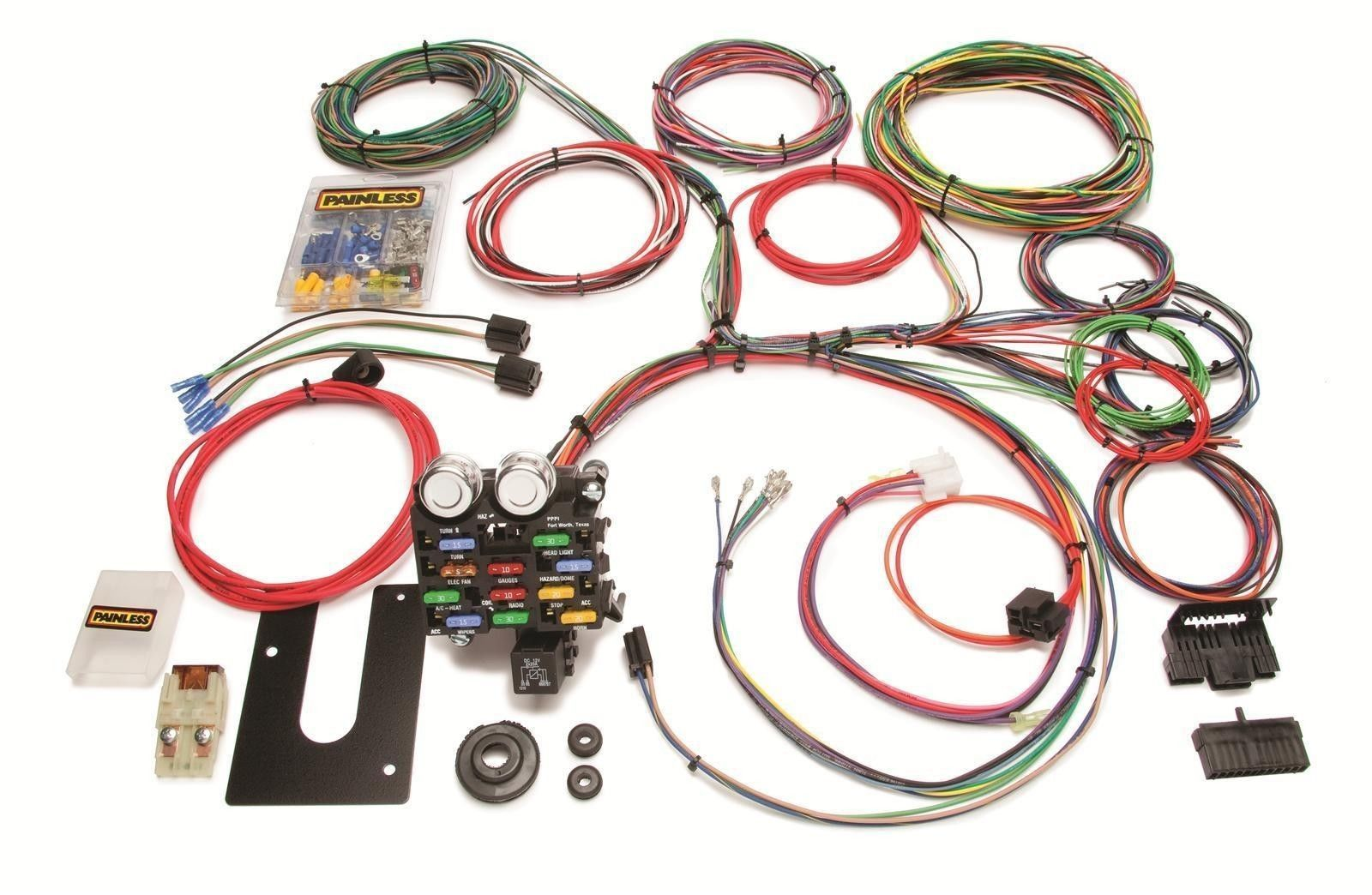Painless Wiring PW10101 GM Keyed Column 21 Circuit Universal Street rod  Harness