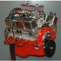 EMA - Chevy 400 Dressed Crate Engine 481HP 485FT/LB Alloy Heads Edelbrock Dual Carb Kit
