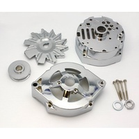 CHROME STEEL ALTERNATOR HOUSING KIT 42400, SUIT 1973-85 GM WITH INT REGULATOR