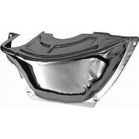 FLYWHEEL DUST COVER CHEV SB TO POWERGLIDE CHROME STEEL 43101