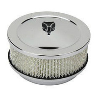 "CHROME 6-3/8"" X 3"" AIR FILTER ASSEMBLY 5-1/8"" NECK 447-921"