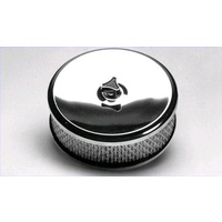 "CHROME AIR CLEANER ASSEMBLY 9"" X 2"" ROUND SUIT 2-5/16"" STROMBURG 456-101"