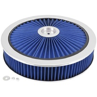 "EXTRAFLOW 45726 AIR FILTER ASSEMBLY 9"" x 2"" BLUE WASHABLE FILTER 5-1/8"" NECK"