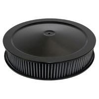"STEALTH ALL BLACK AIR CLEANER 14"" x 3"" 477-941BLK BLACK WASHABLE ELEMENT"