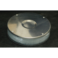 "AIR CLEANER ASSEMBLY WEBER DFV. DFB, DFE 8-3/4"" ROUND CHROME S/STEEL 486-331"