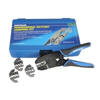 NARVA PROFESSIONAL RATCHET CRIMPING KIT 56513, WITH 4 INTERCHANGEABLE HEADS