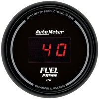 "AUTOMETER SPORT COMP DIGITAL 2-1/16"" FUEL PRESSURE GAUGE 0-100 PSI AU6363"