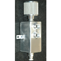 ALLOY RECTANGULAR CATCH CAN WITH BREATHER & DRAIN COCK 1 LITRE 6578