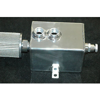 ALLOY RECTANGULAR CATCH CAN WITH BREATHER & DRAIN COCK 3 LITRE 6580