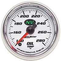 "AUTOMETER NV SERIES 2-1/16"" ELEC OIL TEMPERATURE GAUGE 140-280°F AU7356"