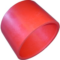 "RUBBER INTAKE PIPE COUPLER 3"" (76mm) RED 8432"