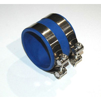 "RUBBER STRAIGHT 3"" TO 3"" PIPE COUPLER & CLAMPS BLUE 84363"