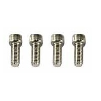 "4x SPECTRE CHROME SOCKET HEAD BOLT SET 3/8"" x 16 x 1-1/2""  9896"