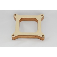 "AED 1"" BIRCHWOOD CARBURETOR SPACER KIT 4BBL SQUARE BORE OPEN CENTRE AED6170"