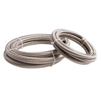 Aeroflow AF100-06-1M SS Braided Hose -6AN 1 Metre Length Clamshell Pack