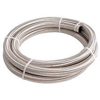 Aeroflow AF100-06-2M SS Braided Hose -6AN 2 Metre Length Clamshell Pack
