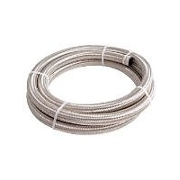 Aeroflow AF100-06-3M SS Braided Hose -6AN 3 Metre Length Clamshell Pack