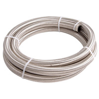 Aeroflow AF100-06-6M SS Braided Hose -6AN 6 Metre Length Clamshell Pack