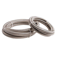 "Aeroflow AF100-07-2M SS Braided Hose -7AN 2 Metre Length Clamshell Pack 3/8""I.D"