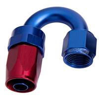 100 Series Swivel Taper 180° Hose End -4AN (Blue/Red Finish. Suit 100 & 450 Series Hose) (AF106-04)