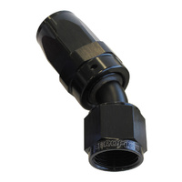 AEROFLOW 100 SERIES SWIVEL TAPER 30° HOSE END -16AN BLACK AF117-16BLK