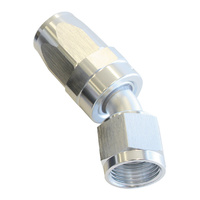 AEROFLOW 100 SERIES SWIVEL TAPER 30° HOSE END -16AN SILVER AF117-16S