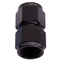 Aeroflow AF131-10BLK Straight Female Flare -10AN Black Swivel Coupler