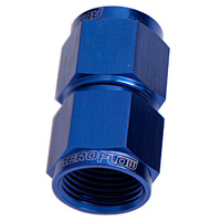 Aeroflow AF131-16 Straight Female Flare -16AN Blue Swivel Coupler